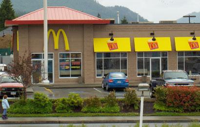 McDonalds - One block from Tyee Motel